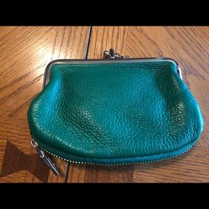 DKNY leather coin purse wallet
